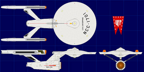 Constitution Class (USS Enterprise) (Phase II) 2.0 by apaskins1991