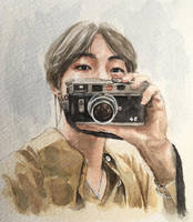 Taehyung watercolour fanart by for-infinity