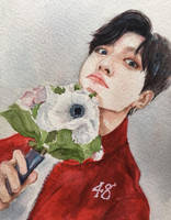 Jungkook - watercolour fanart by for-infinity