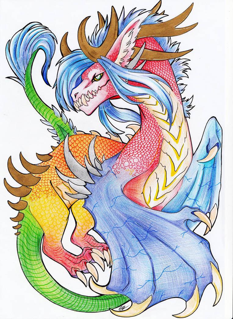 Birthday Dragon by Maharany