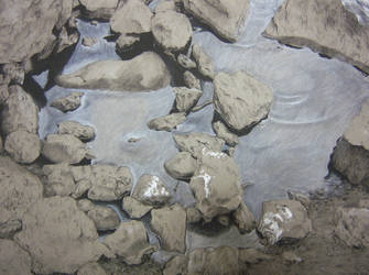 Rocks In the Merrimack by emilytheartist