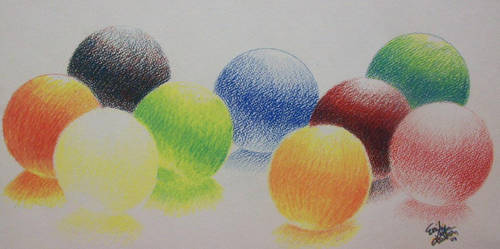 Colorful Spheres by emilytheartist