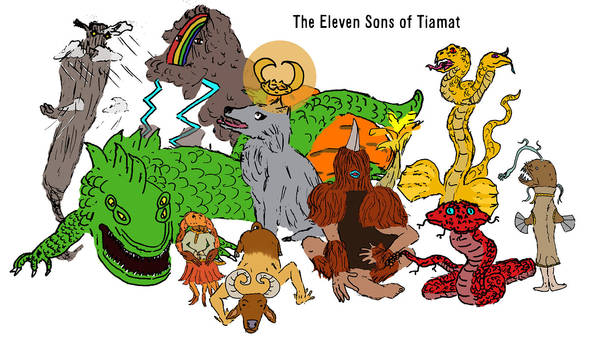 The Eleven Sons Of Tiamat by aGentlemanScientist