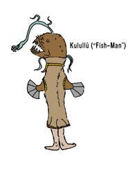 Kulullu (Fish-Man) by aGentlemanScientist