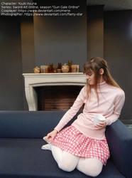 [Cosplay - Sword Art Online - GGO] Asuna on sofa by mene