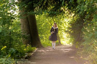 [Cosplay - Hakuouki SSL - Sen] Walking in the park by mene