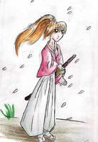 the lonley sakura by acientwolf90