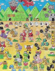 Mario Bros Collage Part 2 by Thedude32