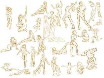 Figure Drawing - 3 3 12 by Kyatia