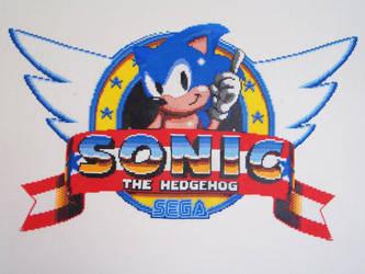 Sonic 1 Title Logo Bead Sprite by SerenaAzureth