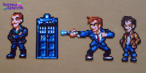Doctor Who Bead Sprite Set 3 by SerenaAzureth