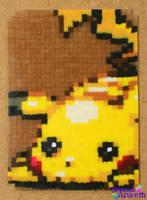 Pikachu ATC Bead Sprite by SerenaAzureth