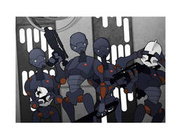 Commando Droid Attack by JasonWelcome