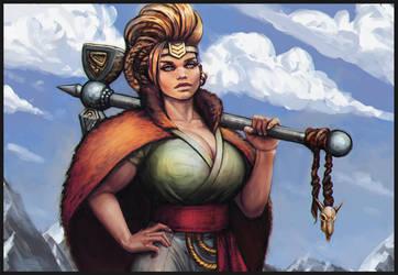 Dwarf lady by kastep