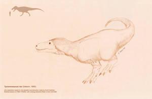 Tyrannosaurus rex by DELIRIO88