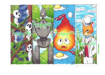 Studio Ghibli bookmarks 2 by kaity-bug