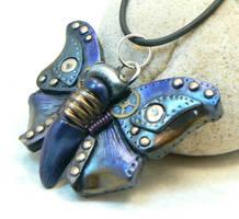 blue steampunk butterfly by DesertRubble