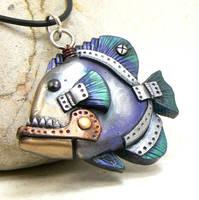 Steampunk Piranha by DesertRubble