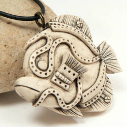 faux bone steampunk fish by DesertRubble