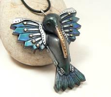 Blue Hummingbird by DesertRubble