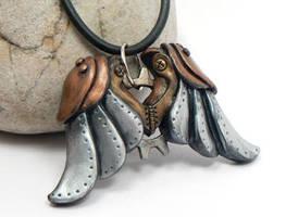 Steampunk Wings Pendant by DesertRubble