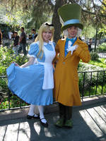 Disneyland - Alice and Hatter by rainbowpunk10