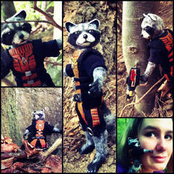 Rocket Raccoon Doll by The30thOfFebruary