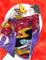 Mononoke - Nopperabou Wedding Day by adreamofthestars