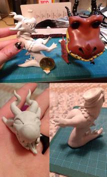 [GRIFFIA] Mitch sculpture progress by LightningClawedSky