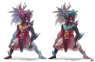 Warrior of the coral reef by Gevoel