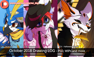 OCTOBER 2018 - drawing log by mr-tiaa