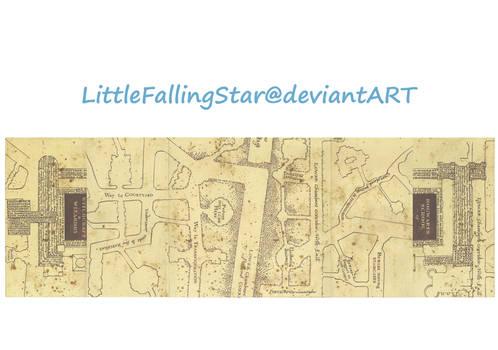Marauders Map middle flaps by LittleFallingStar