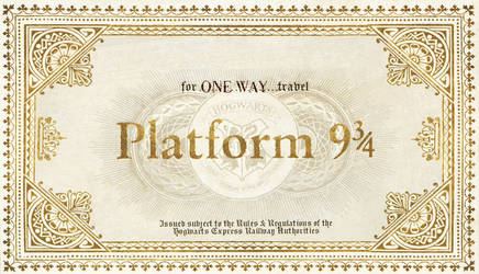 Hogwarts Train Ticket without destination by LittleFallingStar