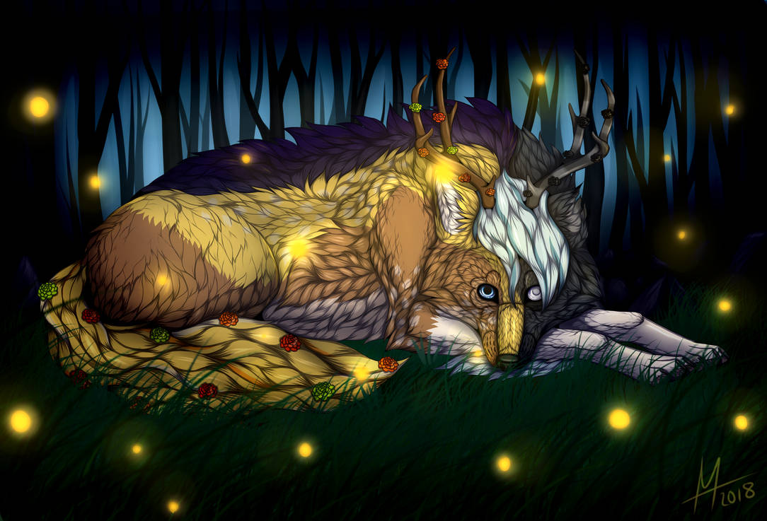 Fireflies | Art Trade [+SPEEDPAINT] by Icarust