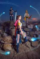 Yuna Rikku Paine Final Fantasy X-2 Cosplay by AGflower