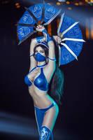 Kitana Mortal Kombat IX Game Sexy Cosplay by AGflower