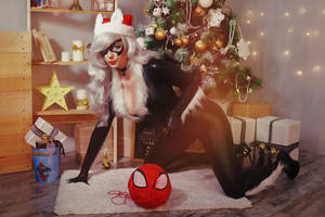 Black Cat Mary Jane Gwen Stacy Cosplay Marvel by AGflower