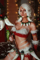 Nidalee League of Legends Snow Bunny Cosplay by AGflower