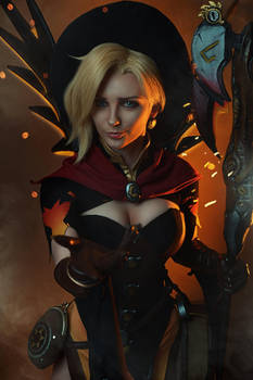 Mercy Overwatch Witch Cosplay BLIZZARD by AGflower
