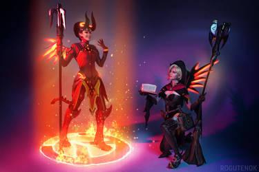 Mercy Overwatch Halloween Cosplay BLIZZARD by AGflower