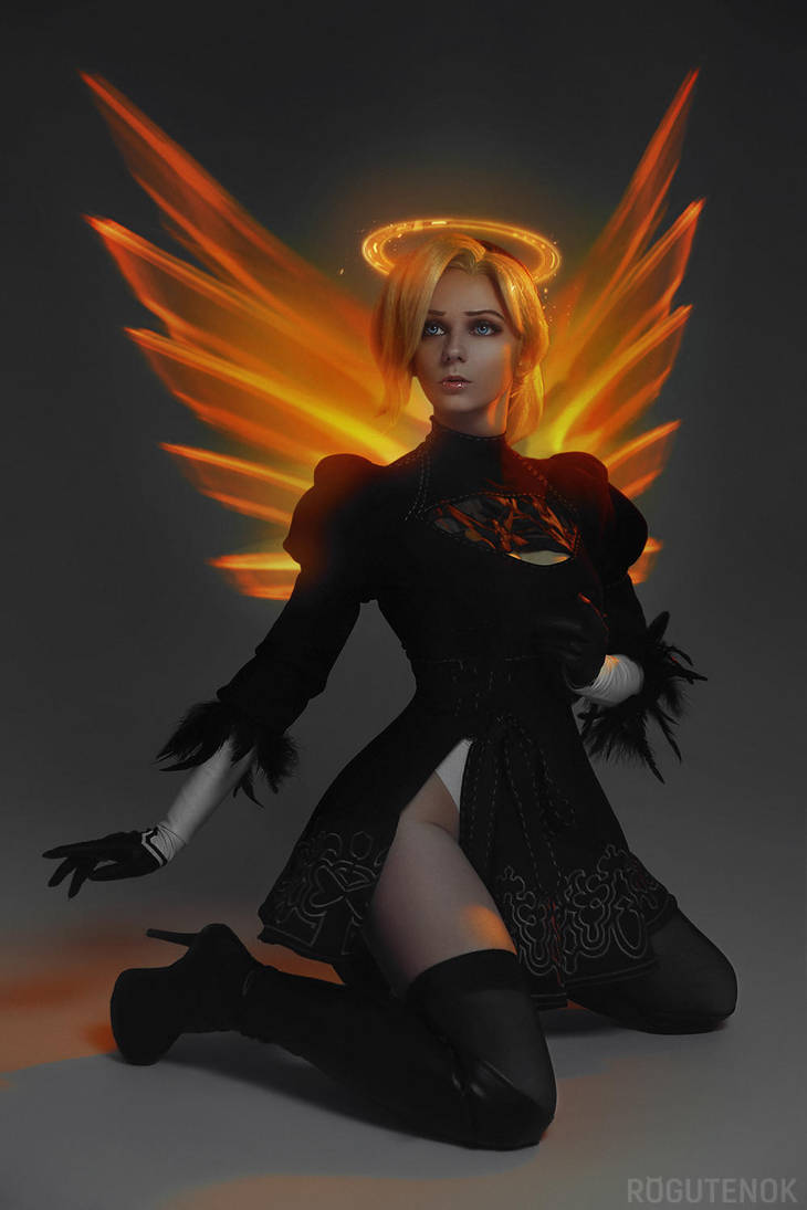 Mercy Overwatch 2B Cosplay BLIZZARD by AGflower