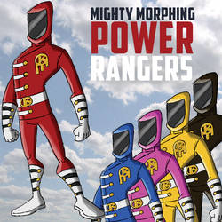 Mighty Morphing Power Rangers by brounkandeemann