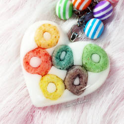 Froot Loop Resin Charm by Mushimushicrafts