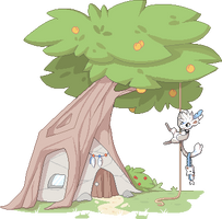 [PIXEL ART] Naku's house by Ayinai