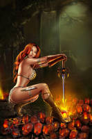 red sonja by sanjun