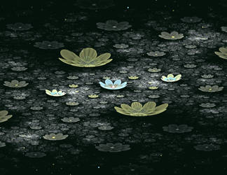Pond Flowers by Adrolyn