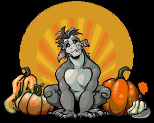 Pumpkin Spice Gargoyle by Kayzig