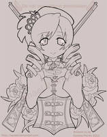 Tomoe Mami Lineart by Tanael