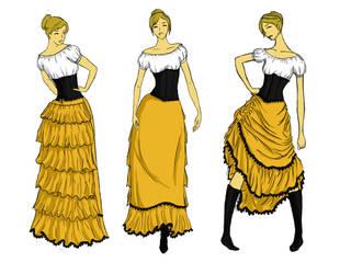 My steampunk dress by Katrla
