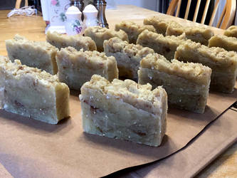 Brown sugar oatmeal (hot process) soap by Angelix88